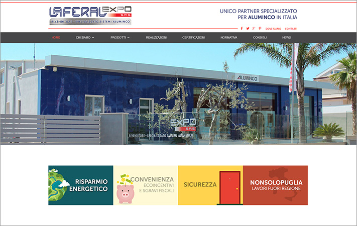 Online il nuovo sito Laferal Expo
